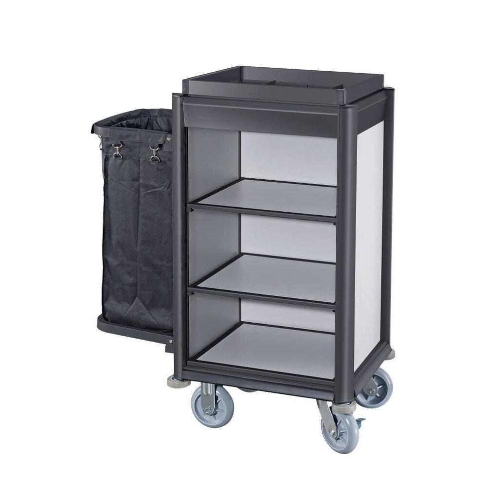 Schoonmaak trolley zwart klein