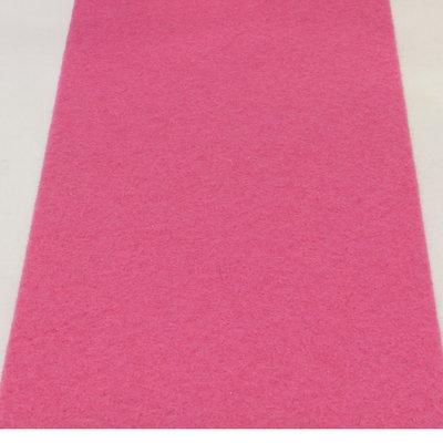 Roze loper 1 meter breed met verstevigde rug