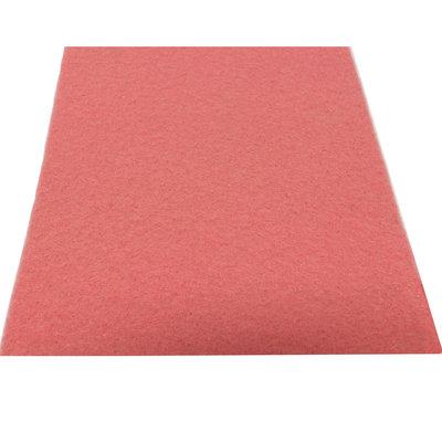 Licht roze loper 1 meter breed met verstevigde rug
